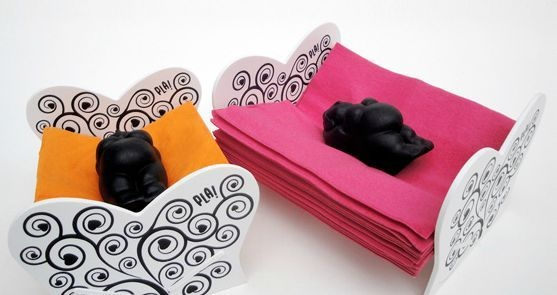 PLA! objetos criados - Vilma Duerme, servilletero de mesa