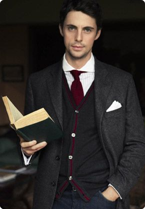 Reading is so sexy!! Matthew Goode