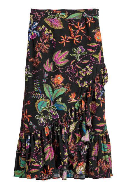 7bbff0fab7 Calf-length flounced skirt | 2018 birthday wish list | Calf length ...