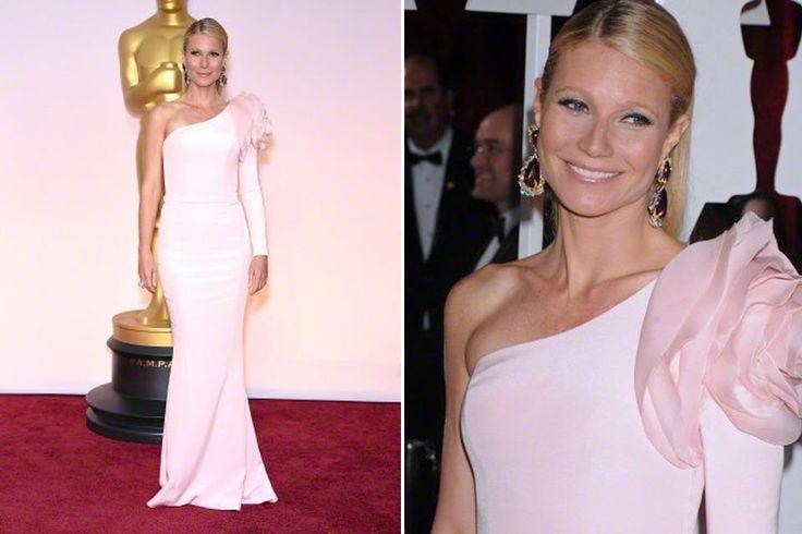 Los 10 vestidos icónicos de los Oscar  En la última entrega de los Oscar, Gwyneth Paltrow eligió un ajustado vestido rosa de Ralph and Russo. Foto: Corbis
