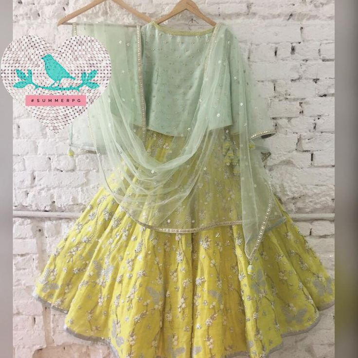 Yellow Butterfly  lehenga  16 October 2016
