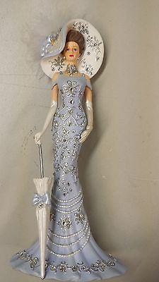 purple lady figurines thomas kinkade | THOMAS KINKADE CRYSTALS OF ELEGANCE TIMELESS REFLECTION FIGURE USED
