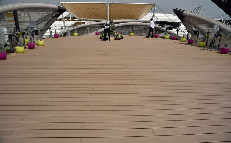 Expo Milano 2015, Mexico Pavilion - Greenwood Decking, Loft finishing, colour Tobacco