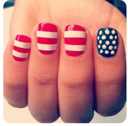 Diy american flag nails makeup pinterest this for 4th of july nail art decoration flag