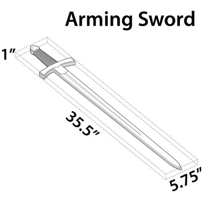 Our Cardboard Arming Sword will make all your dueling dreams come true. Sword and Wall Mount are made of environmentally friendly, recycled cardboard.