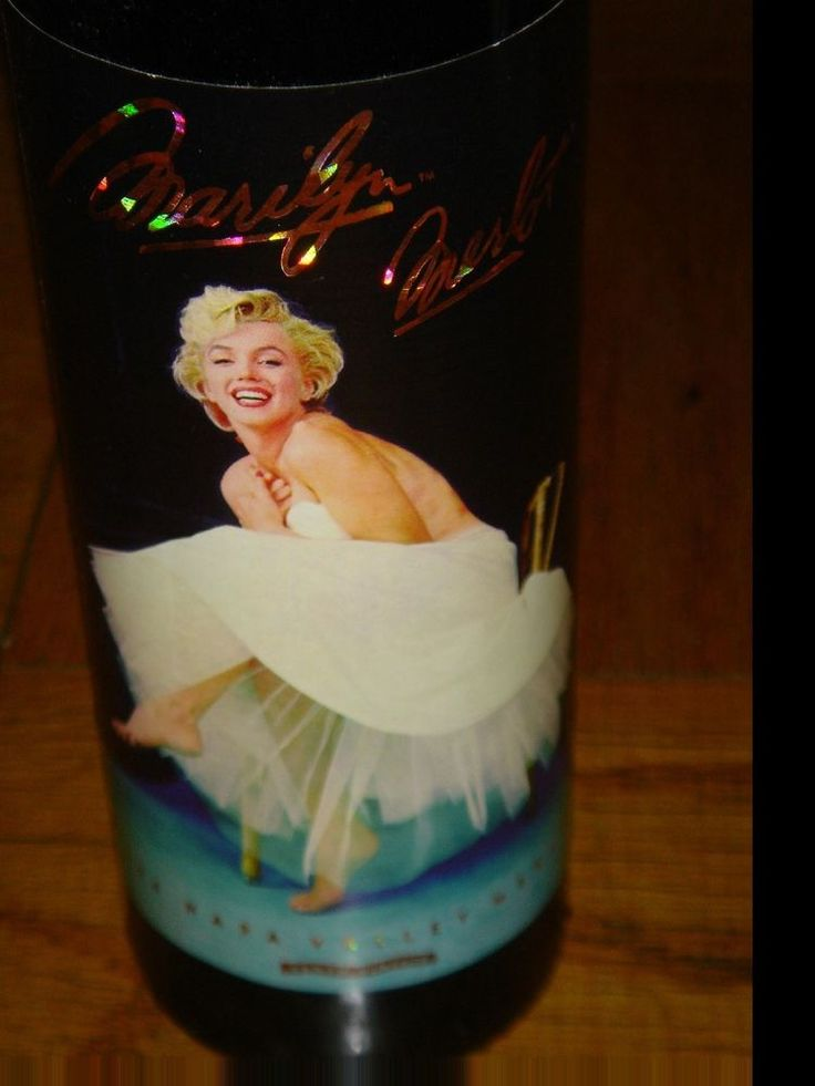 1994 Marilyn Monroe Merlot Brand New Full Sealed Mint Napa Valley 10th Red Wine  #MarilynMerlot The 1994 Marilyn Merlot was our tenth vintage. The photograph used in this label is one of Milton Greene's most famous Marilyn Monroe sessions. It was inspired by an ill-fitting white dress with a crinoline that Marilyn didn't wear but just held up to her body.