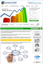 Orange County SEO Company offers businesses top rankings with new affordable search engine optimization packages. Services range from SEO, Social Media Marketing, PPC - Pay per click advertising, Website design, and Reputation Management. Learn about SEO and receive a free consultation, call Orange County SEO Company at (949) 494-0007. Visit http://www.prweb.com/releases/orange-county-seo-company/website-design-conversion/prweb10217157.htm
