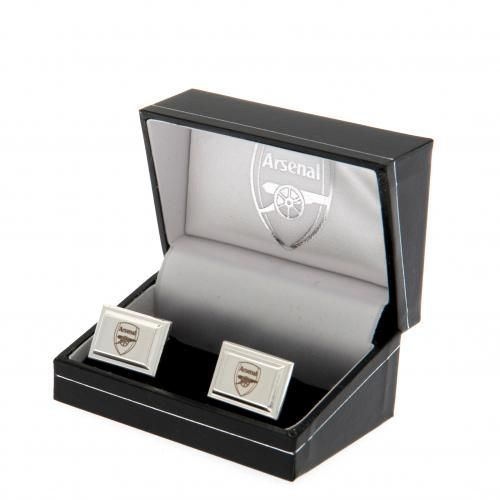 Arsenal FC Cufflinks - Silver Plated | AFC Merchandise | Gifts for Men