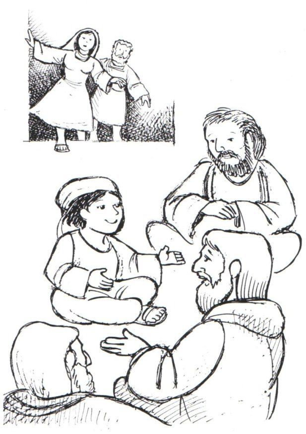 Boy Jesus In The Temple Coloring Page Coloring Home Jesus In The