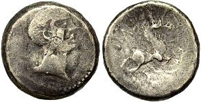 Celts, Boii in Bohemia, Devil, Mid 1st Century B.C.  The Boii first appear in history in connection with the Gallic invasion of north Italy, 390 B.C., when they made the Etruscan city of Felsina their new capital, Bononia (Bologna). They were defeated by Rome at the Battle of Mutina in 193 and their territory became part of the Roman province of Cisalpine Gaul. According to Strabo, writing two centuries after the events, rather than being destroyed by the Romans like their Celtic neighbors…