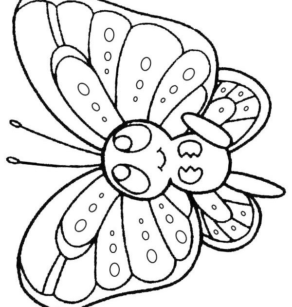 Free Online Printable Kids Colouring Pages Baby Butterfly Coloring Pages  Coloring Book Dis… In 2020 Butterfly Coloring Page, Free Online Coloring, Online  Coloring Pages