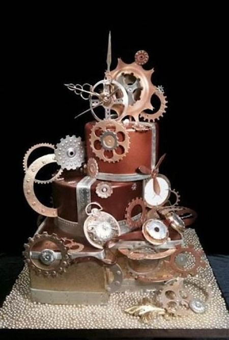 Cake Wrecks - Home - Sunday Sweets Glues Some Gears OnIt