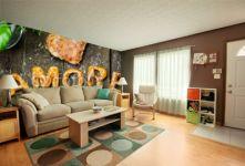 Fototapeta , Panel szklany , Fototapety , Plexi , Wort Amore, Buchstaben aus Pizzateig, Holztisch, Gemüse