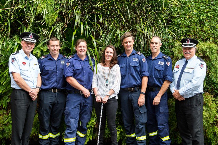 @buchan6169 with Fire and Rescue NSW team at her book launch