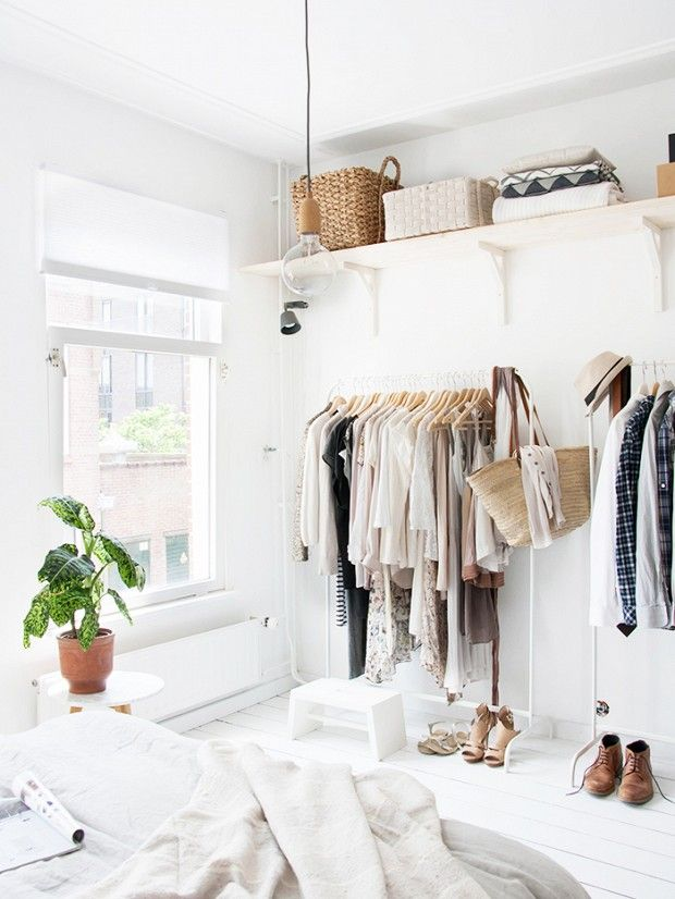 closet ideas: Your lack of a closet might be a good thing after all! via @WhoWhatWear