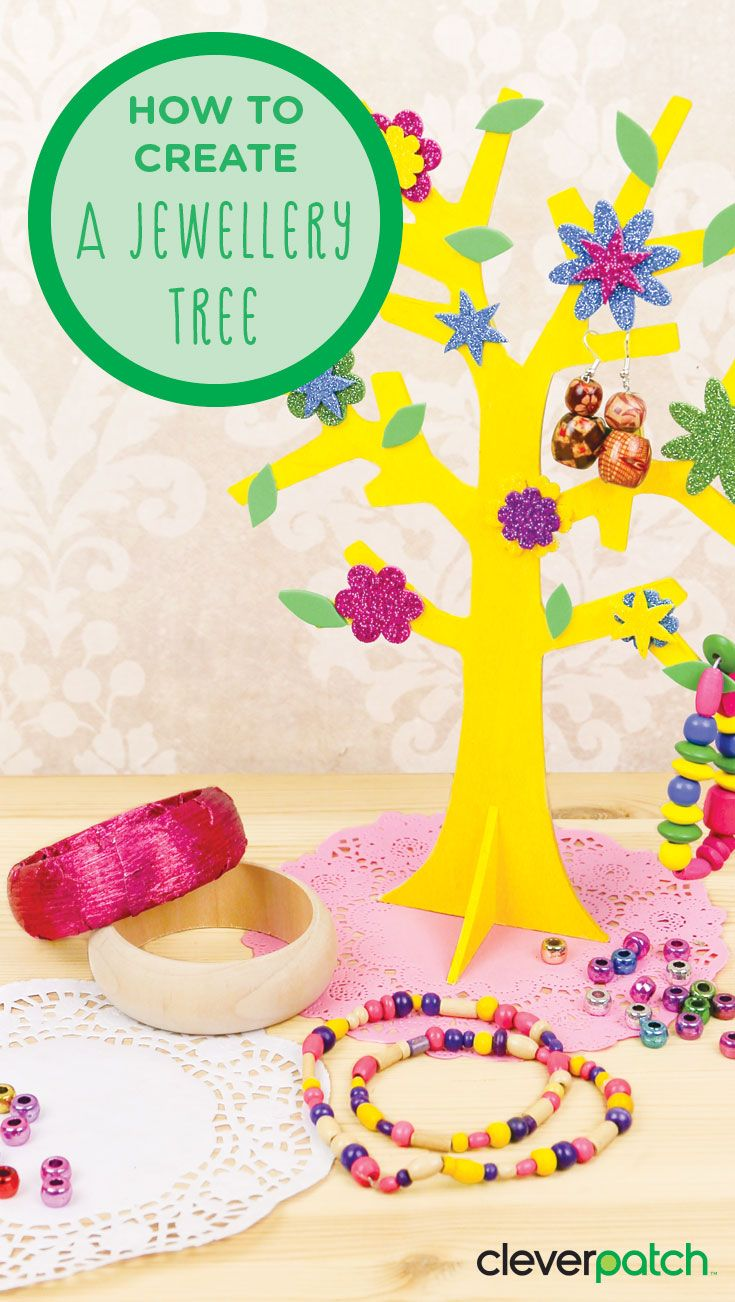 This 3D wooden tree makes a great Jewellery stand!