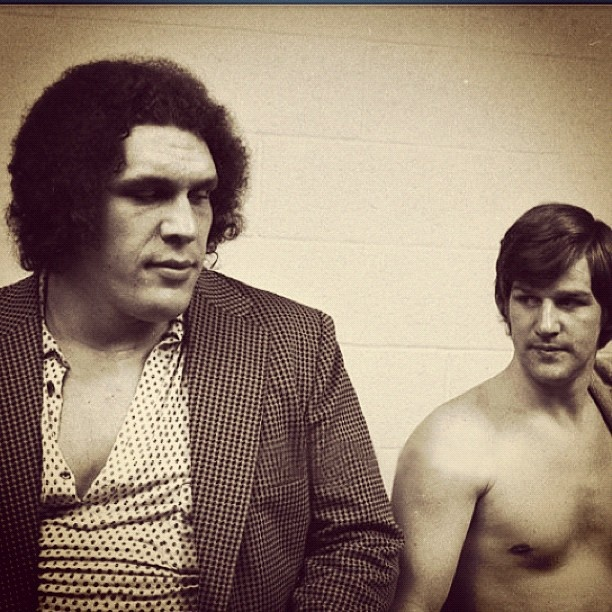 Bobby Orr and Andre the Giant