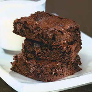 Mocha-Dark Chocolate Chunk Brownies Low in Calories, fat and Cholesterol