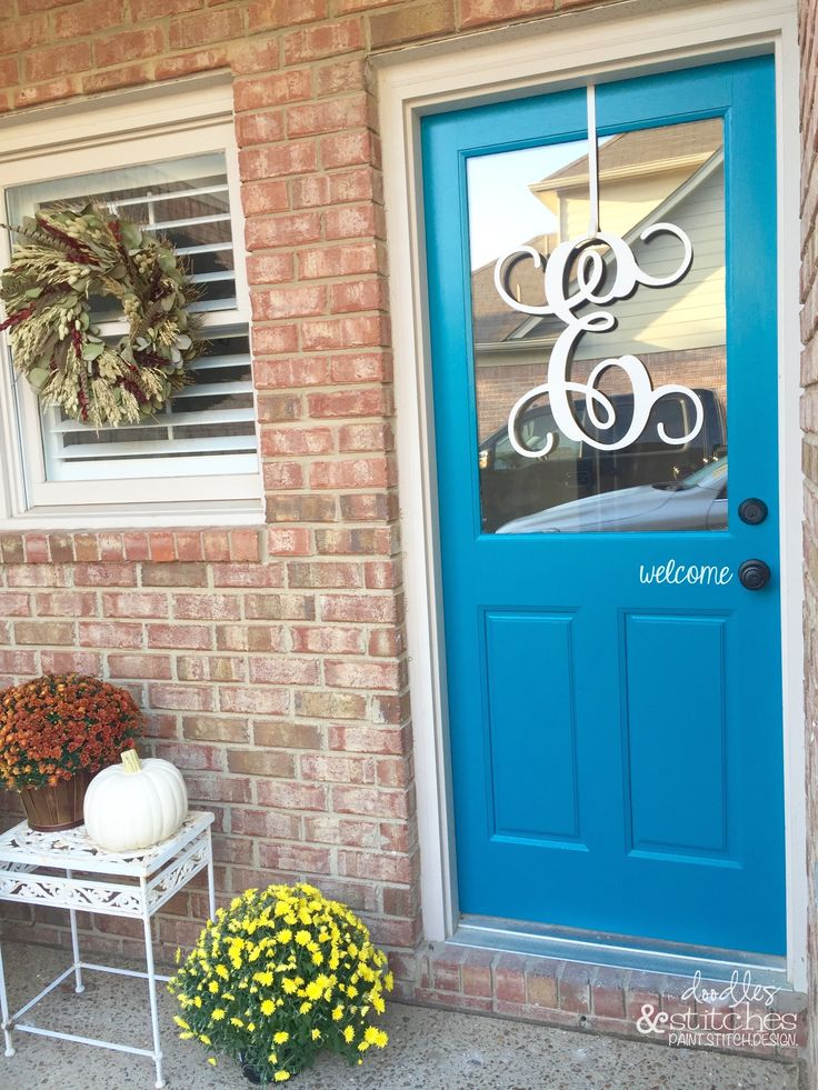 Turquoise Front Door By Doodles Amp Stitches Modern