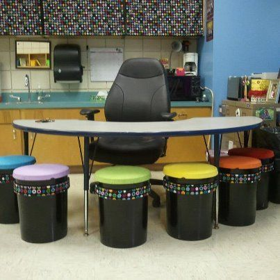 5 gallow bucket ideas | My 5-gallon bucket seats :) great for a day care ... | Classroom Idea ...