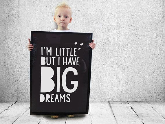 For a little one with big dreams! Cause you can never have enough dreams right? Dream on and make all those dreams come true by chosing what you love!