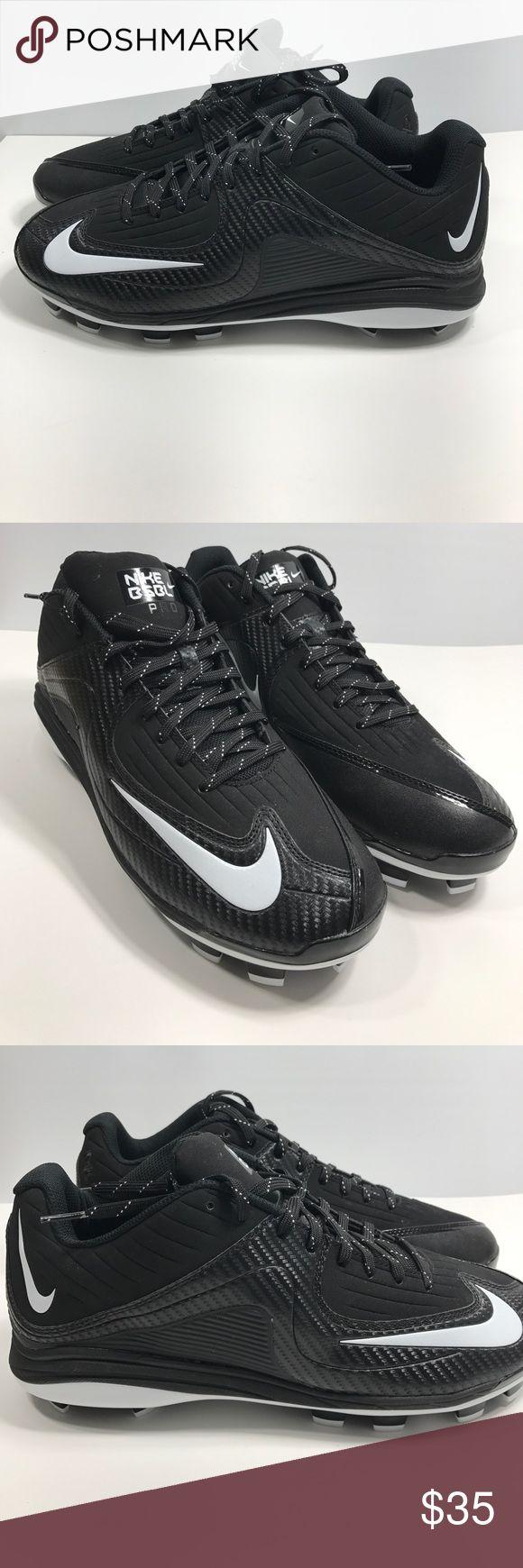 Nike Men's Air Max Pro 2 Baseball Cleats NWOB Nike baseball cleats. Black & white MVP shoes. Never worn! Size 12.5 Nike Shoes Athletic Shoes