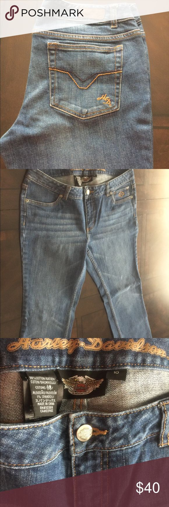 Woman's Harley Davison Jeans Woman's Harley Davison Jeans Size 10 Harley-Davidson Jeans Boot Cut