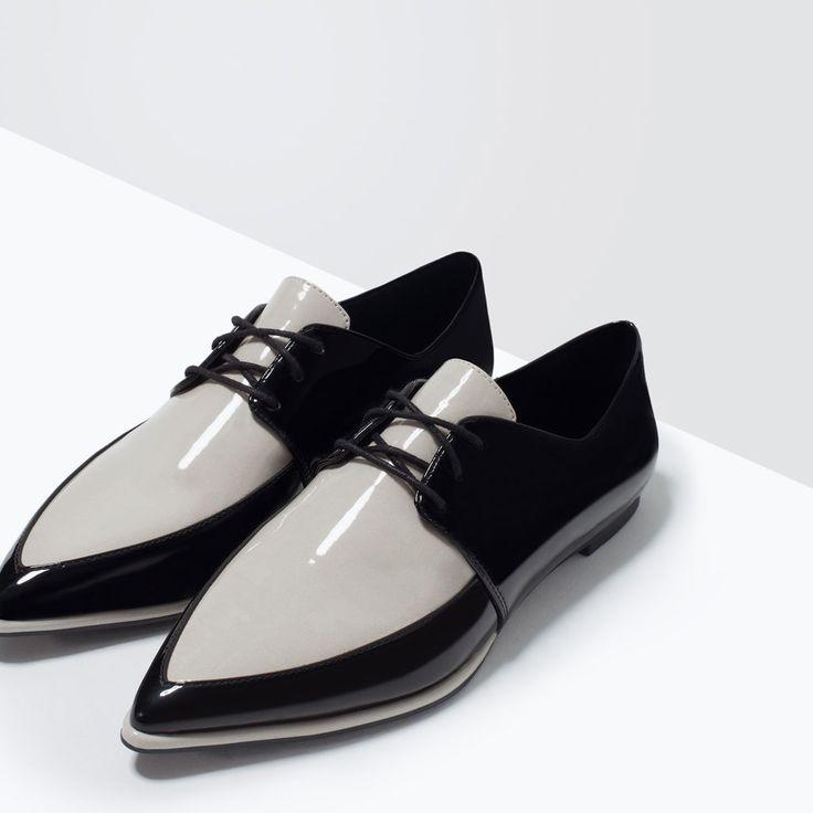 PATENT TOE BLUCHERS-Flats-Shoes-WOMAN | ZARA United States