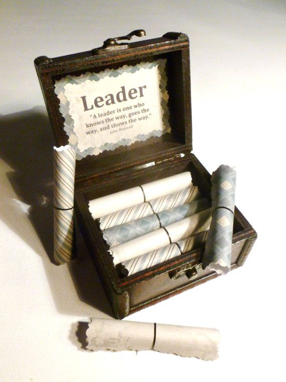 boss gift idea leadership scroll box motivational gift