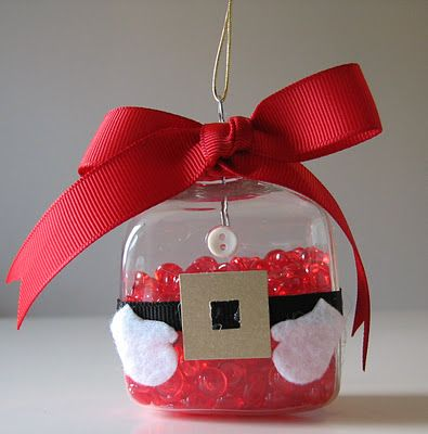 Glass Santa Claus Ornament by Such a Sew and Sew