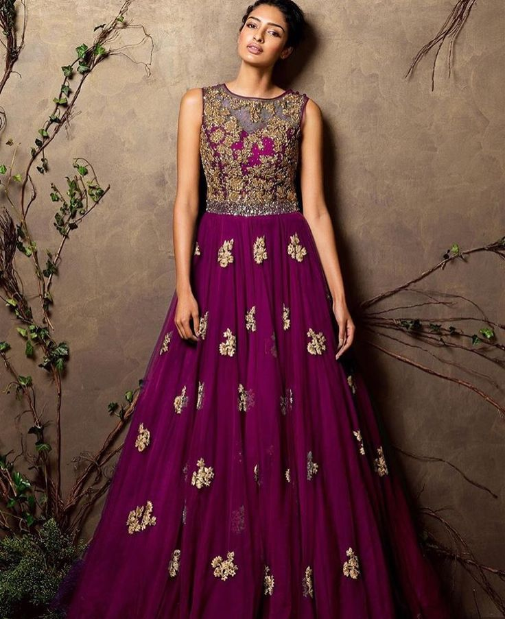 This Turkish Blue Tulle Gown Has Intricate Antique Zardozi And Peeta Embroidery All Over