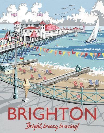 Brighton Pier - Vintage  travel poster (England) #essenzadiriviera #beach...
