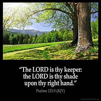 Imagem inspirada para Salmos 121: 5