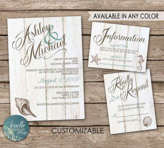 26 best Wedding Invitation - Beach images on Pinterest Wedding - best of wedding invitation card ideas pinterest