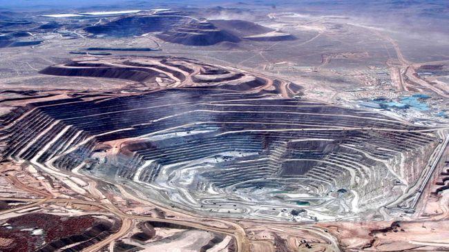 File photo of the Escondida mine in north of Chile