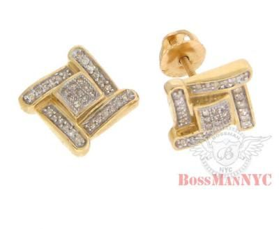 Boss Man Nyc Providing Mens Diamond Earrings and Diamond Earrings for Mens in New York These highend pair of earring in invisible diamond setting all around earrings and the diamond quality is superb nearly colorless.