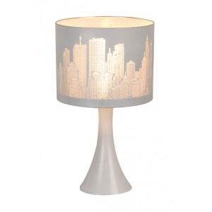 Lampe chevet tactile broadway blanc mat