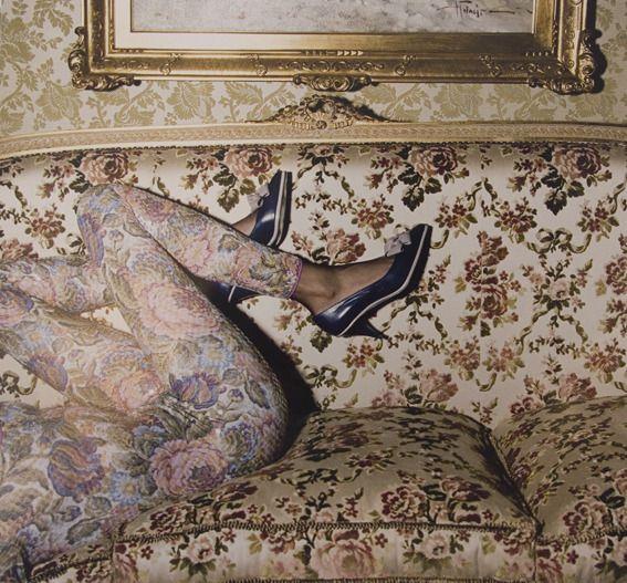 Guy Bourdin flower sofa legs