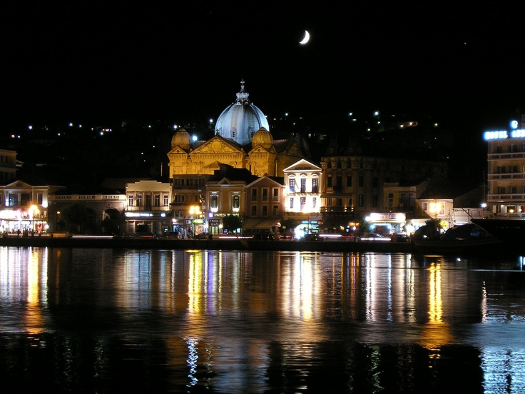 Mytilini by night, Lesvos (my pic)