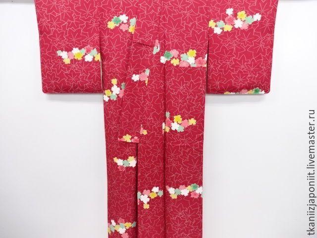 """Купить Японское кимоно """"Сакура и клен"""" - кимоно, японское кимоно, кимоно komon, кимоно японское"""