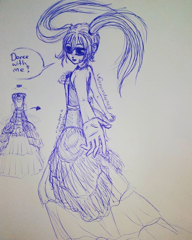 Dance with me . Sketch with a ballpen . Well its not the first time i try to traw this Pose... I am still not happy ;( :S . #cutiepix #cutiepixdesign #anime #manga #doodle #sketch #skizze #animegirl #mangagirl #animeart #mangaart #animedraw #mangadraw #animedrawing #mangadrawing #animedoodle #mangadoodle #animedress #mangadress #animesketch #mangasketch #animehair #otaku #animeskizze #mangaskizze #kawaii #аниме #манга #oc #owncharacter