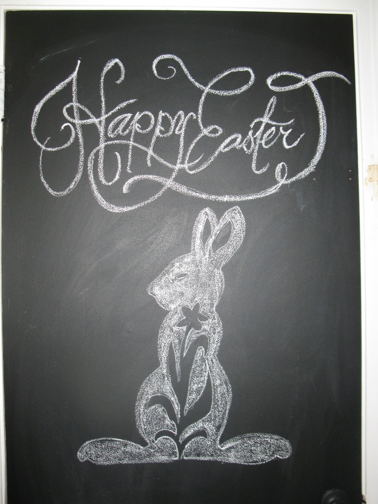 "Drawn on my ""blackboard"" kitchen door - Easter 2012"