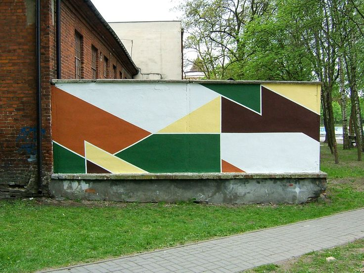 Street art | Geometric abstract shapes by Kaso and Olouch