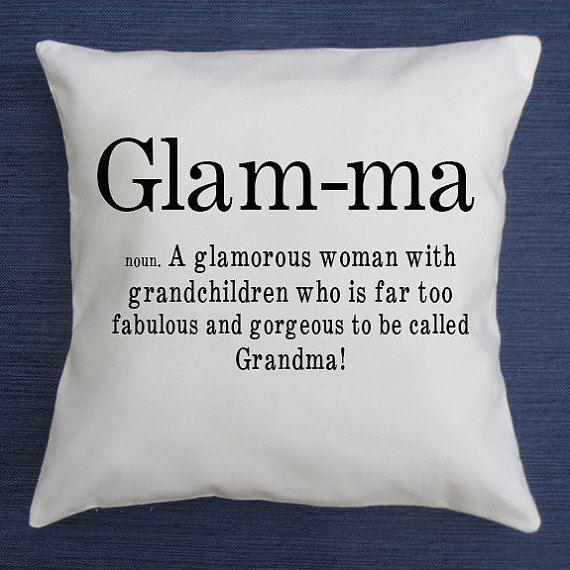 glam-ma definition funny throw pillow cover by NotableAndQuotable