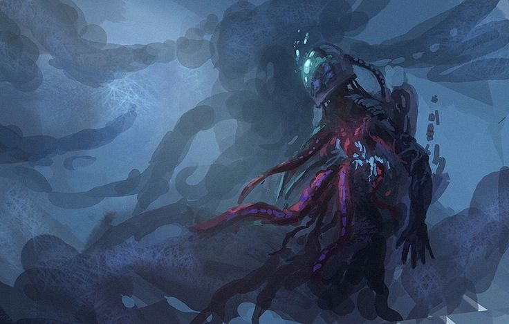 Space fearing undead. By Miro Maatta. For more of his work check him out on Facebook.
