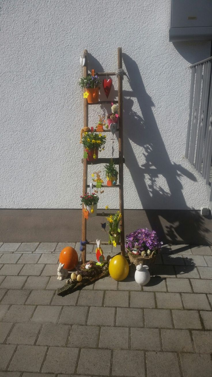 die besten 25+ deko holzleiter ideen auf pinterest. die besten 25+ ... - Blumenstander Selber Bauen Alte Holzleiter