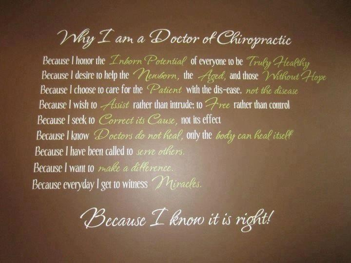 Why I am a Doctor of Chiropractic