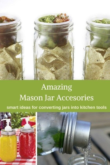 There is a world of accessories out there to mod a mason jar. From coffee to cocktails and from salads to cherry pitters, this list shows off at 13 amazing mason jar accessories for the kitchen (and smart ways to use them). #masonjar #ad #ebay
