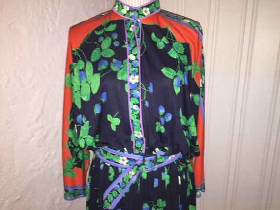 Vintage Leonard Paris kjole, vintage dress
