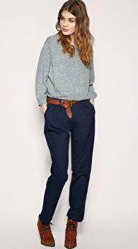 С чем носить женские брюки-чинос